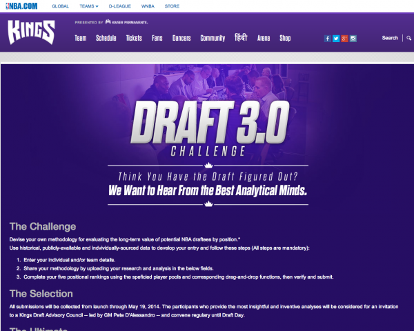 Draft 3.0   Sacramento Kings